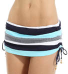 Side Shirred Skirted Hipster Swim Bottom Image