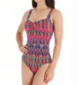 Tommy Bahama Ikat Tie Dye Twist Front One Piece Swimsuit TSW26516P