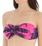 Ombre Palm Twist Bandeau Swim Top Image