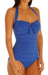 Tommy Bahama Pearl Solids V Front Halter Cup One Piece Swimsuit TSW33145P