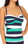 Mare Rugby Stripe Twist Front Tankini Swim Top Image