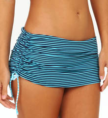 Tommy Bahama Baia Hot Dot & Stripe Skirted Hipster Swim Bottom TSW35910B
