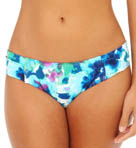 Watercolor Floral Side Shirred Hipster Swim Bottom Image