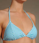 Oxford Stripe Sliding Triangle Cup Swim Top