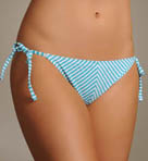 Oxford Mitered Stripe String Bikini Swim Bottom
