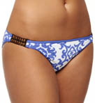 Medallion Bikini Swim Bottom with Beads
