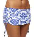 Tommy Bahama Medallion Side Shirred Skirted Hipster Swim Bottom TSW44313B