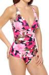 Tommy Bahama Meridian V Neck Shirred One Piece Swimsuit TSW5515P