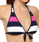 Tommy Bahama Regatta Bold Stripe Reversible Halter Swim Top TSW55501T