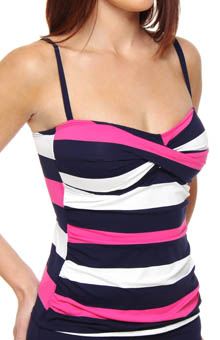 Regatta Bold Twist Front Foam Cup Tankini Swim Top