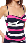 Tommy Bahama Regatta Bold Twist Front Foam Cup Tankini Swim Top TSW55502T