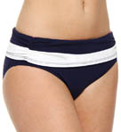 Tommy Bahama Regatta High Waist Shirred Wide Band Swim Bottom TSW55507B