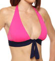 Deck Piping Halter Cup Shirred Band Swim Top Image