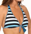 Tommy Bahama Bermuda's Lost Stripes Reversible Halter Swim Top TSW73103T