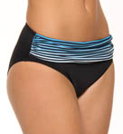 Bermuda's Lost Stripes High Waist Swim Bottom