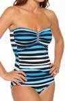 Tommy Bahama Bermuda's Lost Stripes Shirred Bandeau Swimsuit TSW73116P