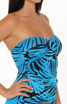 Tortola Leaf Twist Bandeau Bandini Swim Top