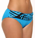 Tortola Leaf High Waisted Belted Swim Bottom