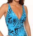 Tortola Leaf  Shirred Front One Piece Swimsuit Image