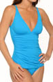 Tommy Bahama Pearl Solids Shirred One Piece Swimsuit TSW73445P