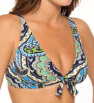 Tommy Bahama Taj Paisley Vneck Over the Shoulder Swim Bra Top TSW74901T