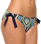 Taj Paisley Side Tie Hipster Swim Bottom