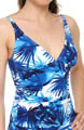 Plumeria V-Neck Tankini Swim Top Image