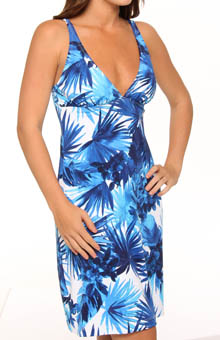 Plumeria Swim Fabric Dress