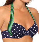 Tommy Bahama Dots & Stripes Halter Underwire Swim Top TSW75103T