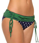 Dots & Stripes Adjustable Ties Hipster Swim Bottom