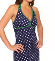 Tommy Bahama Dots & Stripes Halter Swim Fabric Dress TSW75120C