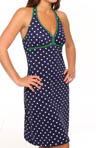 Dots & Stripes Halter Swim Fabric Dress