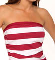 Tommy Bahama Rugby Stripe Adjust Side Ties Bandini Swim Top TSW75402T