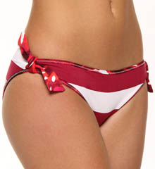 Rugby Stripe Reversible Tie Hipster Swim Bottom