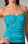 Pearl Solids Shirred Bandeau Bandini Swim Top