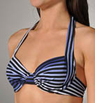 Twilight Stripe Underwire Full Coverage Swim Top