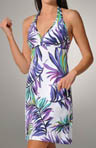 Starlight Palm Halter Tie Swim Coverup Dress