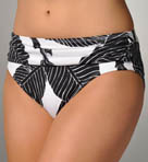 Banana Leaf High Waisted Sash Swim Bottom