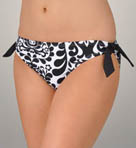 Brocade Tie Side Hipster Swim Bottom