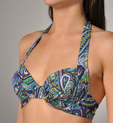 Seville Paisley Underwire Full Foam Cup Swim Top