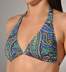 Seville Paisley Sliding Halter Cup Swim Top