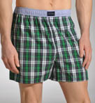 Solid Plaid Woven Boxer