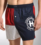 Red, White and Tommy Woven Boxer
