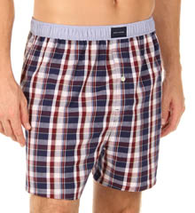 Plaid Woven Boxer