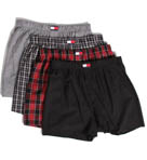 4 Pack Woven Boxer