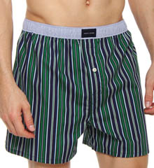 Striped Woven Boxer