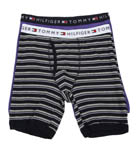 Tommy Hilfiger Striped and Solid Boxer Briefs - 2 Pack 09T0701