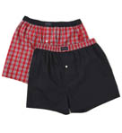 Tommy Hilfiger Gift Set Plaid/Solid Boxers - 2 Pack 09T0991