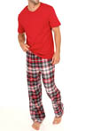 Tommy Hilfiger Sleep Top and Flannel Pant Gift Set 09T1058