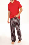 Tommy Hilfiger Sleep Top and Flannel Pant Gift Set 09T1061
